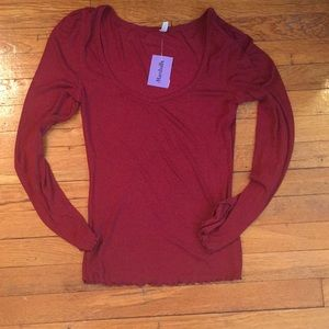 NWT Free People Red T Shirt